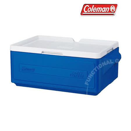 【美國 Coleman】 23.5L置物型冰桶(原廠公司貨).行動冰箱.行動冰筒.小型冰箱.冰筒.附排水孔.冰箱/ CM-1326 藍
