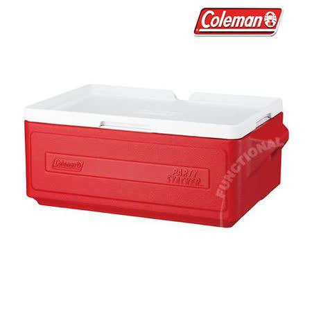 【美國 Coleman】 23.5L置物型冰桶(原廠公司貨).行動冰箱.行動冰筒.小型冰箱.冰筒.附排水孔.冰箱/ CM-1325 紅