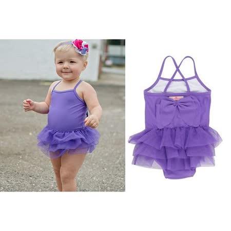 美國 RuffleButts 小女童比基尼泳裝_紫色連身泳裝 (RBSW04-03)