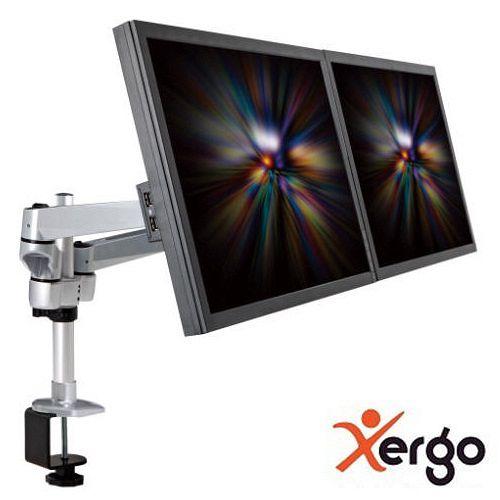 Xergo 雙延伸臂雙螢幕夾桌支撐架^(終身 ^)-EM43116