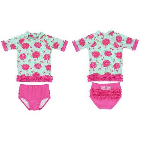 美國 RuffleButts 小女童比基尼泳裝_時尚玫瑰荷葉邊 (RBSW07-01)