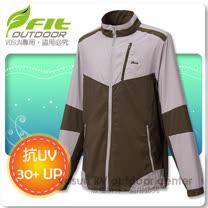 【FIT】男新款 透氣吸排抗UV防曬外套/ FS1302_橄欖綠
