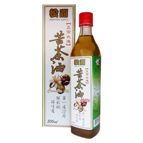 【松鼎】正宗北港100%苦茶油(盒裝)2瓶(500ml/瓶)
