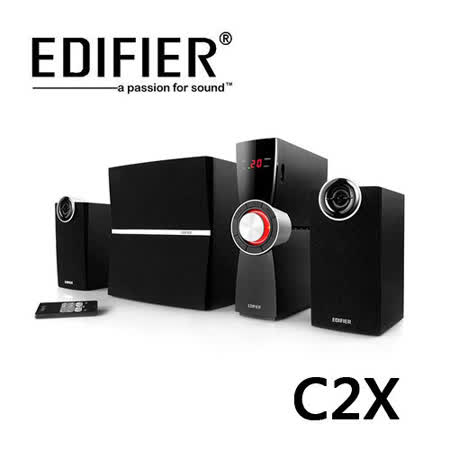 EDIFIER 漫步者 C2X 全木質三件式多媒體喇叭