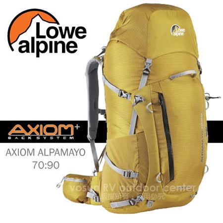 【英國 LOWE ALPINE】新款 AXIOM ALPAMAYO 70:90 登山健行背包(含背包套) /FBP60GO 金黃