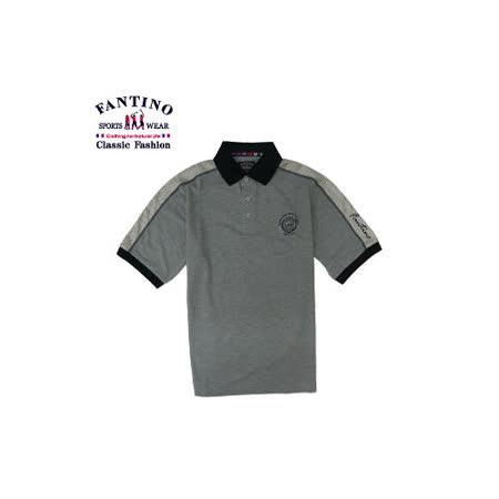 【FANTINO】男款  優雅品牌刺繡質感POLO衫 (深灰.淺灰) 231159. 231160