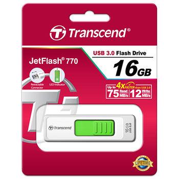 創見16G USB3.0純白極速伸縮碟JF770