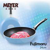 MEYER 美國美亞Fujimaru藍珊瑚單柄不沾平煎鍋 24CM(無蓋)