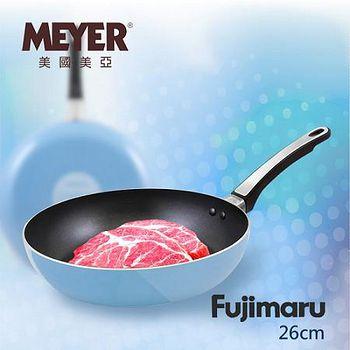 MEYER 美國美亞Fujimaru藍珊瑚單柄不沾平煎鍋 26CM(無蓋)