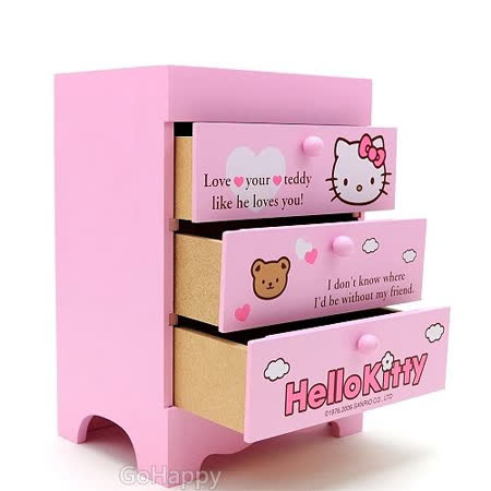 SANRIO【Hello Kitty】飾品迷你收納櫃