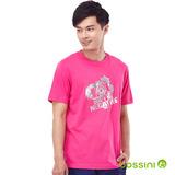bossini男裝-印花短袖T恤45紫紅