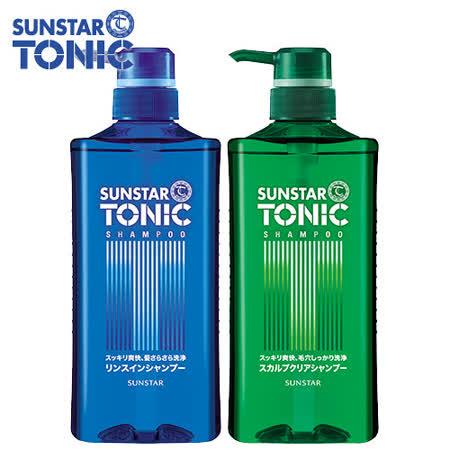 TONIC 頭皮清爽洗髮精520mlx2 + TONIC 頭皮清爽雙效洗髮精520ml(藍瓶)x2
