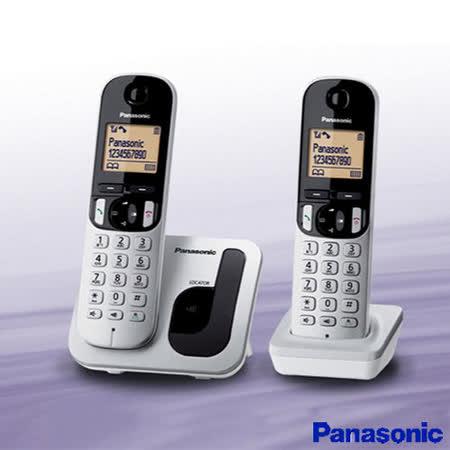 《贈馬克杯》【國際牌Panasonic】DECT免持擴音雙子數位電話 KX-TGC212TW 公司貨