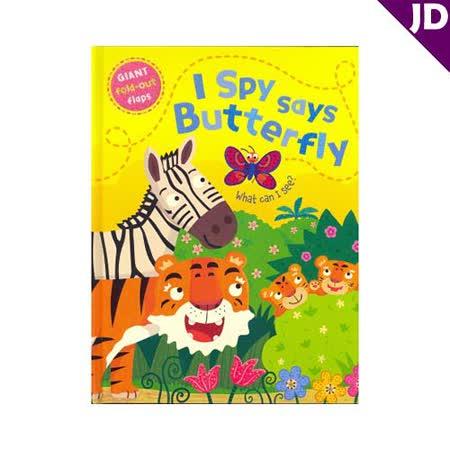 【英國Caterpillar原文童書】I Spy says Butterfly大翻翻書