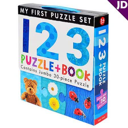 【英國Caterpillar原文童書】My First Puzzle Set-123  地板大拼圖