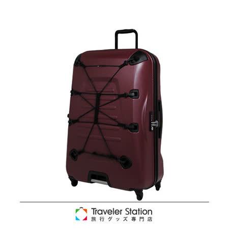 《Traveler Station》SUNCO OUTZONE25吋拉鍊拉桿箱-酒紅色