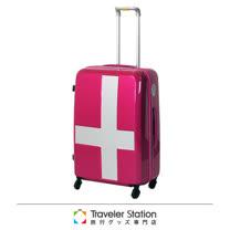 《Traveler Station》innovator 25吋十字靜音輪旅行箱-粉色銀貼紙