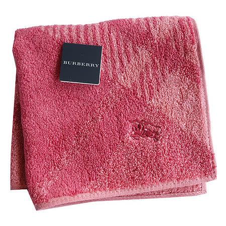 BURBERRY 經典戰馬刺繡蘇格蘭紋LOGO小方巾(粉橘)