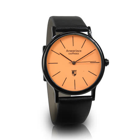 【Arseprince】彩虹之夜簡約中性錶-橙色