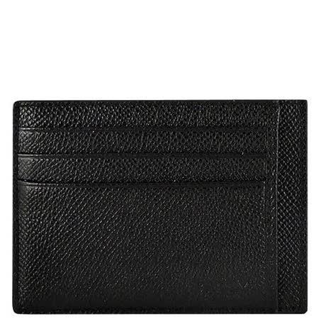 BALLY 黑色皮革壓紋證件名片夾
