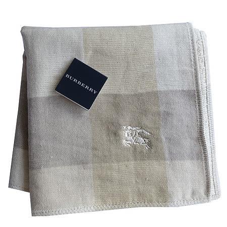 BURBERRY 經典戰馬刺繡LOGO雙面用小方巾(卡其)