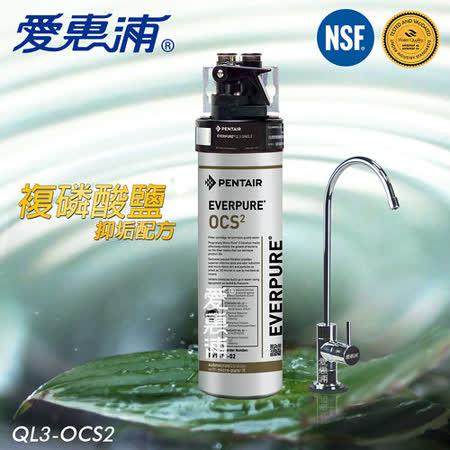 【愛惠浦EVERPURE】家用型精緻抑垢淨水器 QL3-OCS2 買就送【金樂客濾掛咖啡一盒】
