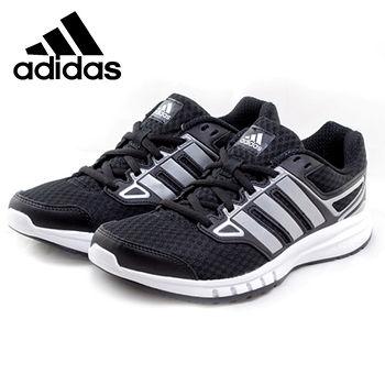adidas 輕量避震慢跑鞋(女款)-黑/銀