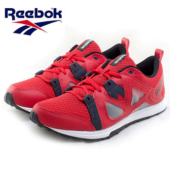 Reebok 輕量透氣慢跑鞋(男款)-紅/鐵灰