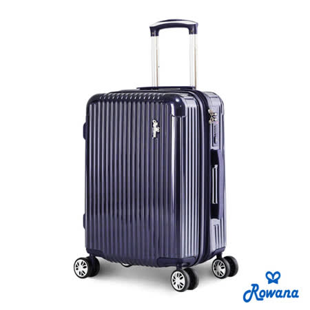 Rowana 經典誘惑-防爆拉鍊PC鏡面旅行箱 20吋(寶石藍)