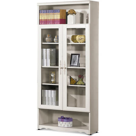 MY傢俬 法式古典2.7尺半開放式系統書櫃
