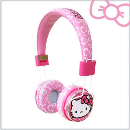 Hello Kitty 粉嫩豹紋耳罩式線控耳機 (KT-EM02)