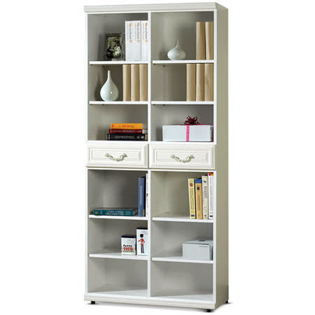 MY傢俬 法式古典二抽2.7尺開放式系統書櫃