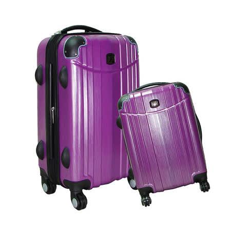 【BATOLON寶龍】24+28吋/大組-時尚髮絲紋TSA鎖ABS輕硬殼旅行拉桿箱
