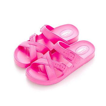 母子鱷魚 輕量氣墊拖女款N32-粉色(23~25cm)