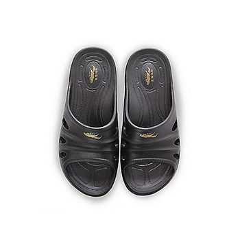 母子鱷魚 輕量氣墊拖男款BN5127-黑色(25~28cm)