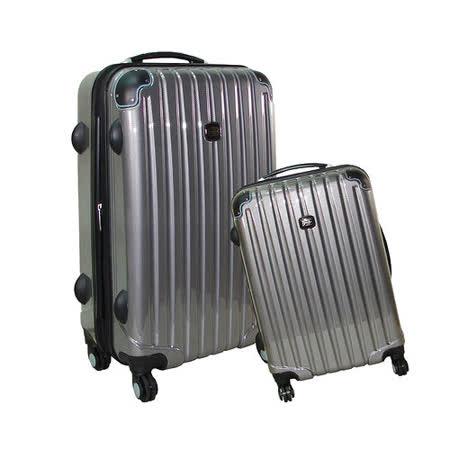 【BATOLON寶龍】24+28吋/大組-時尚網眼格TSA鎖ABS輕硬殼旅行拉桿箱