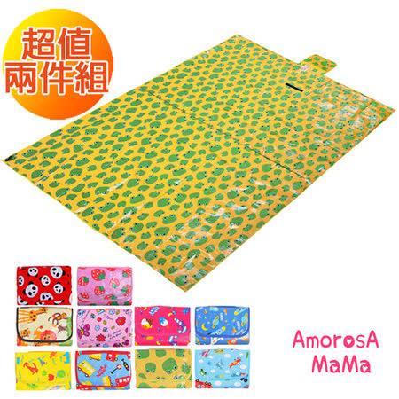 【Amorosa Mama】折疊手提式戶外野餐墊/遊戲墊/地墊(2入組)