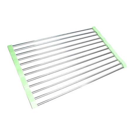 【STAINLESS STEEL】簡單收納多功能防滑瀝水架/2入