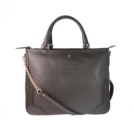 【真心勸敗】gohappy快樂購物網AIGNER Shopping Bag系列 真皮兩用揹購物包包 咖啡色推薦基隆 愛 買 電話