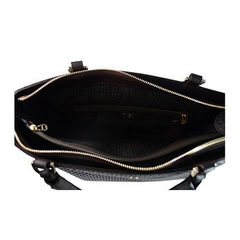 AIGNER Shopping Bag系列 真皮兩用揹購物包包 咖啡色