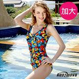 【Heatwave熱浪】星光豐彩 加大萊克三角連身泳衣-81696