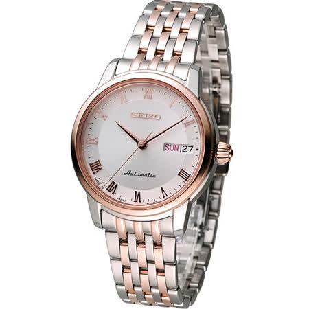 精工 SEIKO Presage 羅馬經典機械女用腕錶 4R36-04F0KS SRP882J1