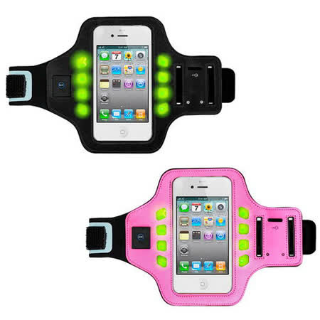 【KINYO】手機5.3吋以下LED發光運動臂套(PHL-536)