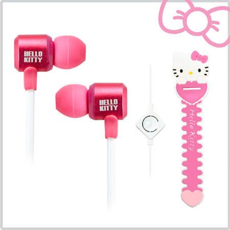 Hello Kitty經典造型線控耳機 (KT-EM12)--俏皮粉(KT-EM12P)