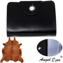 【AngelEyes 嚴選真皮】簡約皮紋18卡位環保PVC卡袋小牛皮信用卡夾(共3色 BW-8374-5)
