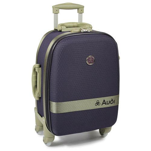 【Audi 奧迪】18吋新蜂巢格4輪36中 和 愛 買0度~行李箱旅行箱 LT-71518-深紫