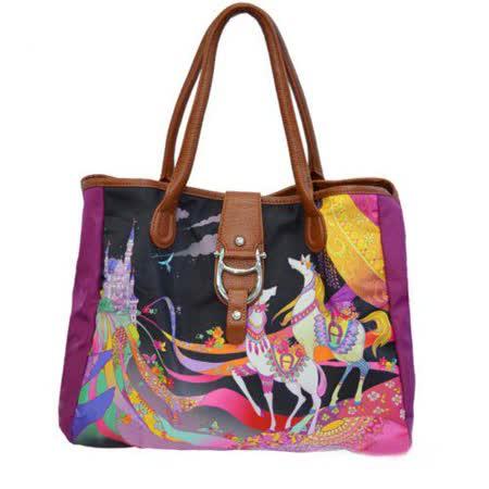 【好物推薦】gohappy 購物網AIGNER City Bag系列 圖繪限定版手提包-M 紫茉莉效果如何gohappy 折價 券