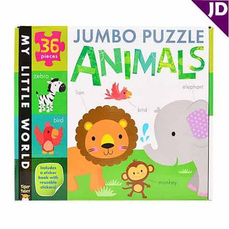 【英國Caterpillar原文童書】我的小世界-地板大拼圖-動物 Jumbo Puzzle-Animals