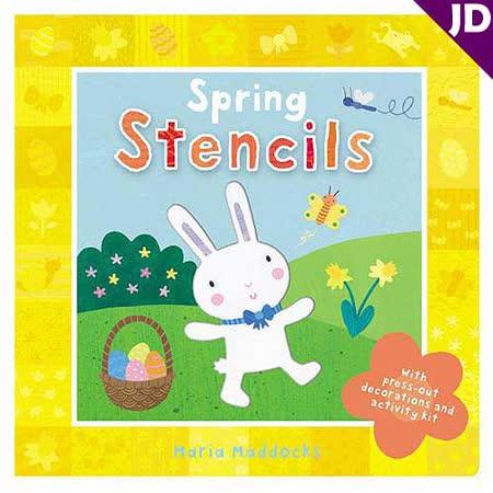 【英國Caterpillar原文童書】Spring Stencils 拼圖書