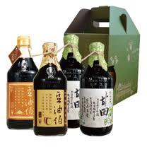 豆油伯童趣醬油任選禮盒組(紅麴醬油1瓶+醬油任選3瓶)